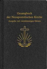 Gesangbuch, Kunstleder Ausgabe mit vierstimmigen Sätzen