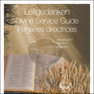 Leitgedanken zum Gottesdienst Jahrgang 2011 (CD-ROM)