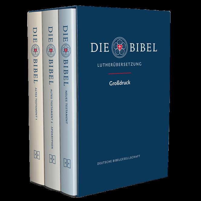 Lutherbibel 3 Bände im Schuber 2017er Übersetzung.