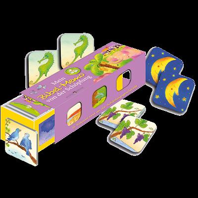 Mein Bibel-Memo von der Schöpfung Kartenlegespiel mit 36 Bildpaaren