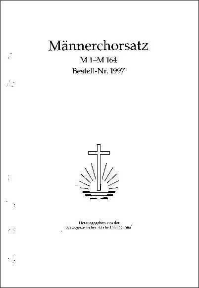 Liedersammlung für Männerchor, ohne Mappe