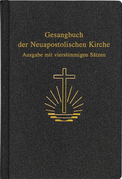 Gesangbuch, 4stimmige Sätze, groß 15,2 x 22,9 cm, Kunstleder