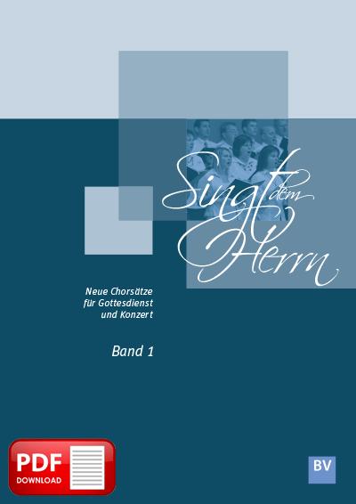 Singt dem Herrn, Band 1 (PDF-Notensammlung)
