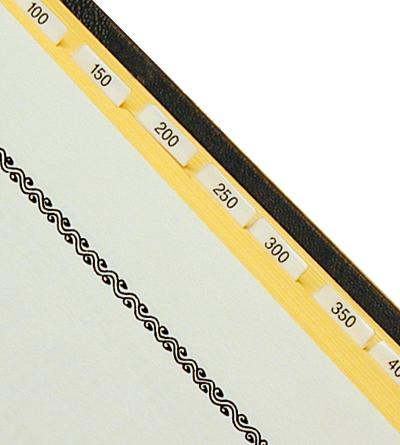 Liednummern-Register zum Einkleben