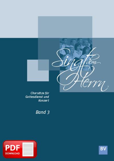 Singt dem Herrn, Band 3 (PDF-Notensammlung)