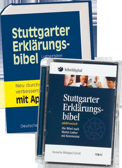 Stuttgarter Erklärungsbibel Set aus Bibel und CD-ROM