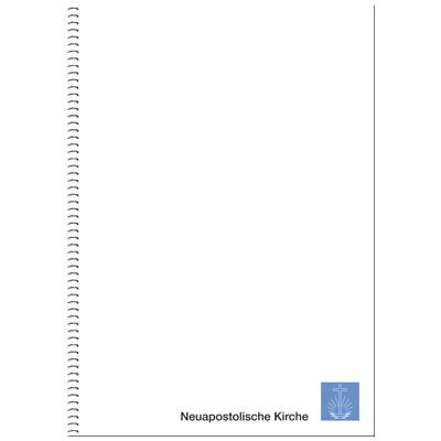 Schreibblock DIN A4, Ringbuch mit Kirchenemblem