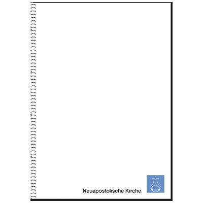 Schreibblock DIN A5, Ringbuch mit Kirchenemblem