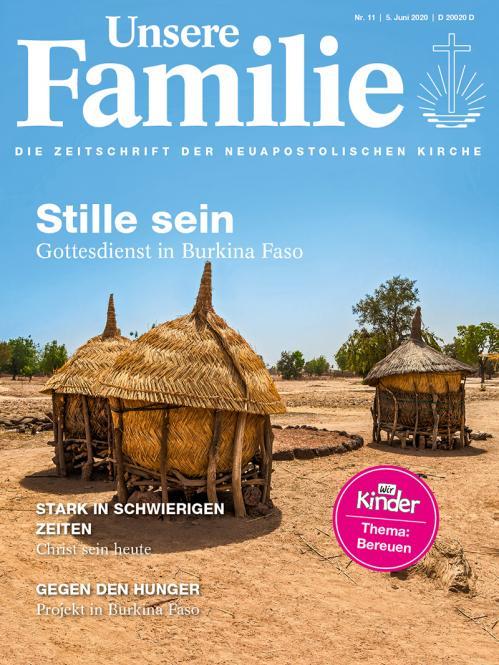 Unsere Familie, 2020, Ausgabe 11 + Wir Kinder, Thema: Bereuen