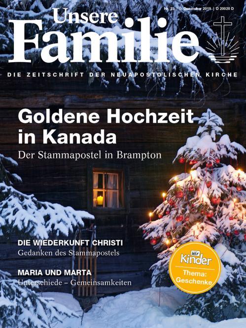 Unsere Familie, 2019, Ausgabe 23 + Wir Kinder, Thema: Geschenke