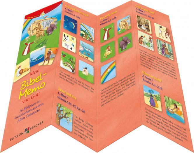Mein Bibel-Memo von Gott Kartenlegespiel mit 36 Bildpaaren