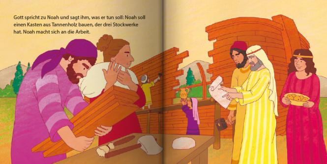 Gott rettet Noah Mini-Buch