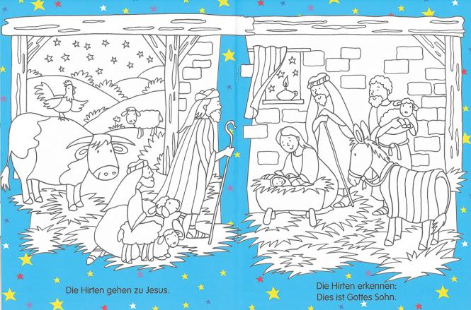 Mein Kinderbibel-Malbuch Die Weihnachtsgeschichte