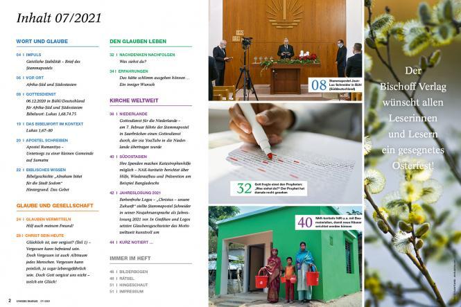 Unsere Familie, 2021, Ausgabe 07 + Wir Kinder, Thema: Fürbitte