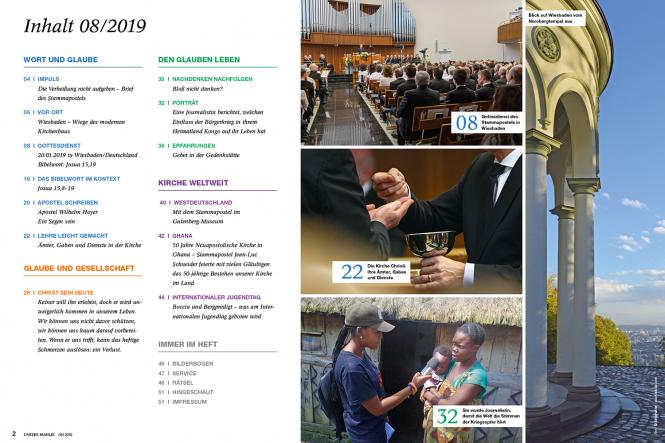 Unsere Familie, 2019, Ausgabe 08 + spirit, Thema: Himmel