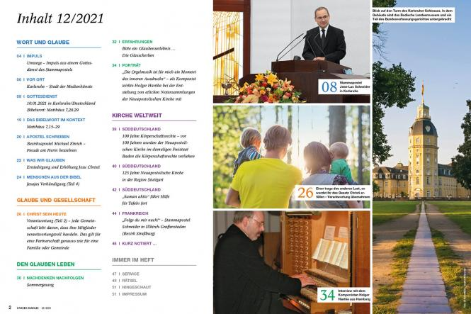 Unsere Familie, 2021, Ausgabe 12 + spirit, Thema: Stehlen