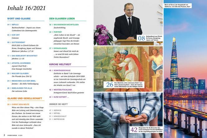 Unsere Familie, 2021, Ausgabe 16 + spirit, Thema: Bekennen