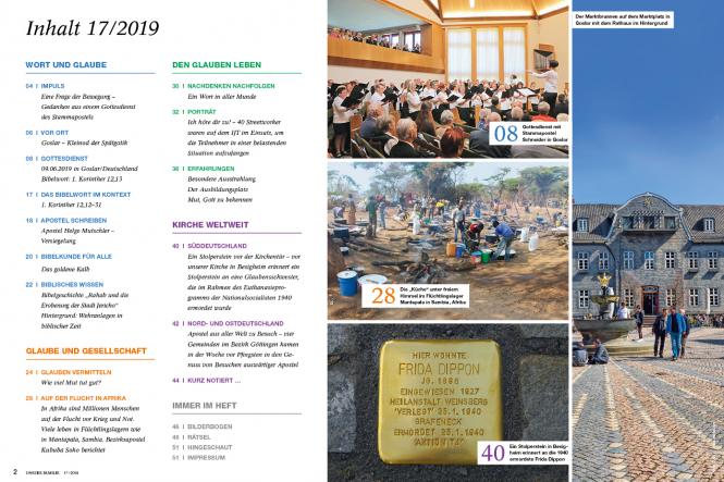 Unsere Familie, 2019, Ausgabe 17 + Wir Kinder, Thema: Mut