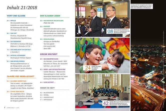 Unsere Familie, 2018, Ausgabe 21 + Wir Kinder, Thema: Krankheit
