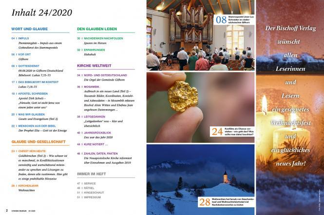 Unsere Familie, 2020, Ausgabe 24 + spirit, Thema: Gottes Wille