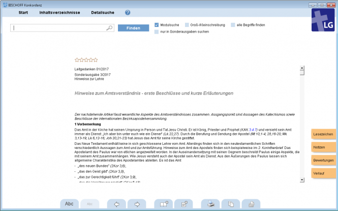 Leitgedanken, Jahrgang 2017 (Software-Modul)