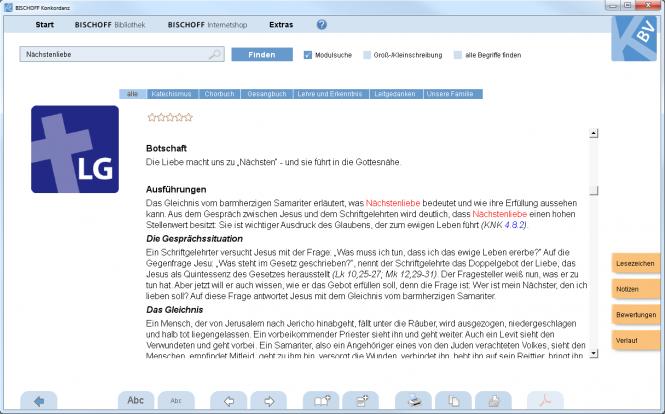 Leitgedanken, Jahre 1989 - 2004 (Software-Modul)