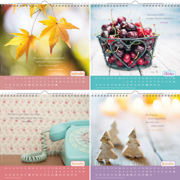 Für gute Freunde 2018 Geschenkkalender