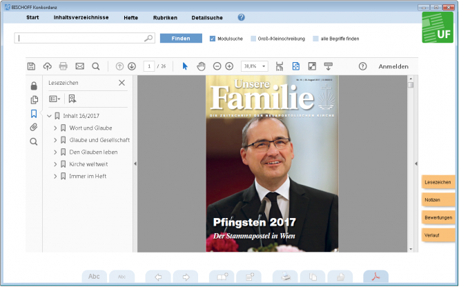 Unsere Familie, Jahrgang 2017 (Software-Modul)