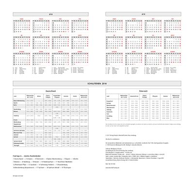 Schöpfung 2018 Wandkalender